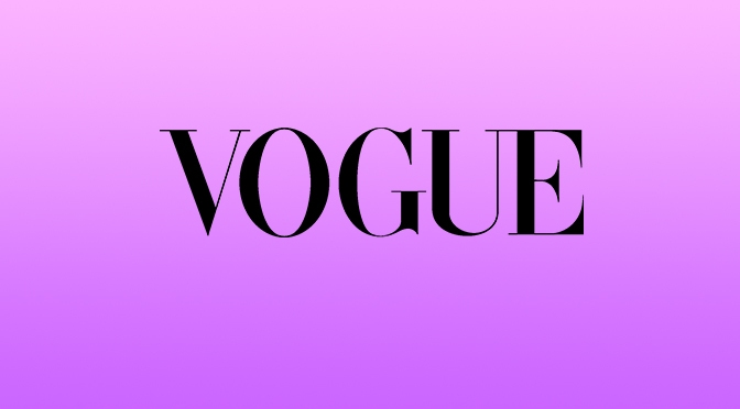 Looking at magazine layouts in Vogue